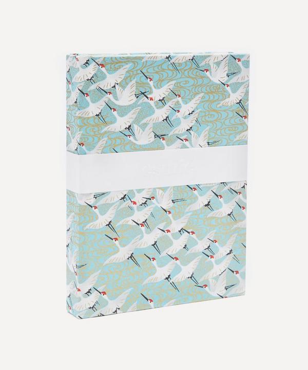 Esmie White Cranes Small Notebook