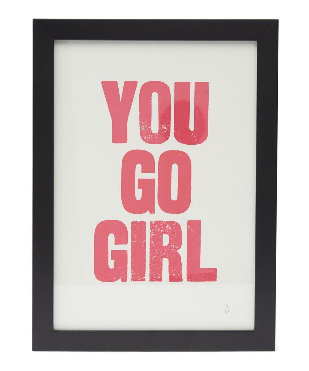 You Go Girl Framed Poster