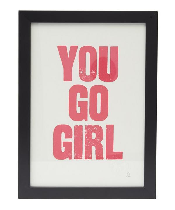 You Go Girl Framed Poster