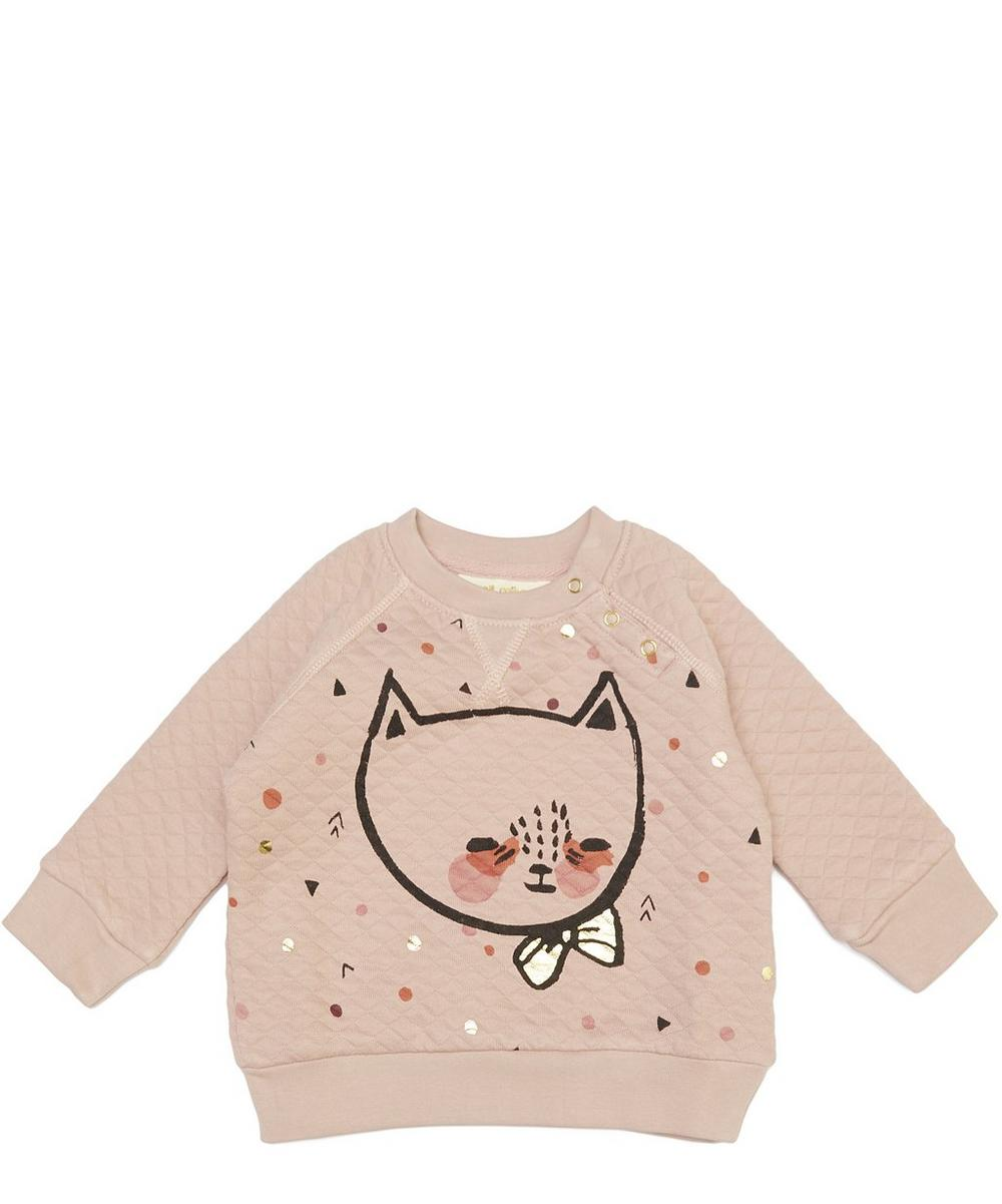 Alexi Cat Motif Sweatshirt