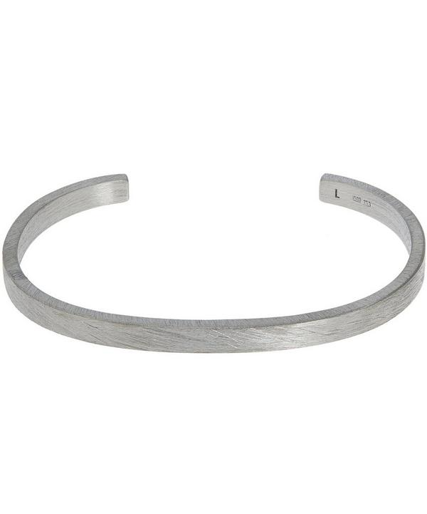 Rectangle Brushed Cuff Bracelet