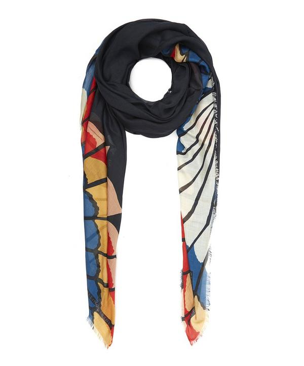Wing Print Silk Blend Scarf