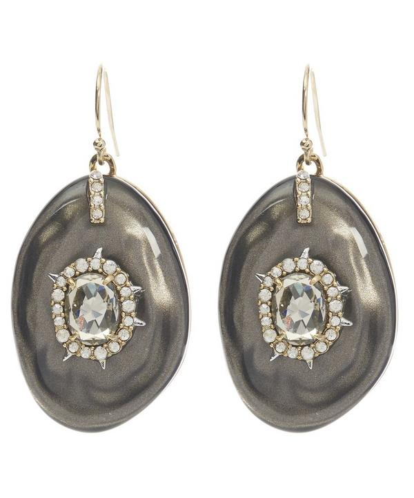Lucite and Crystal Drop Earrings