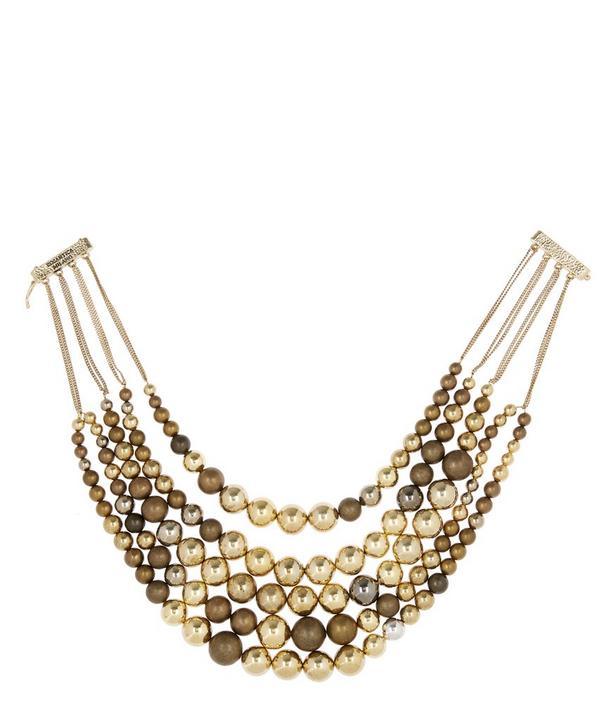 Incanto Brass Bead Necklace