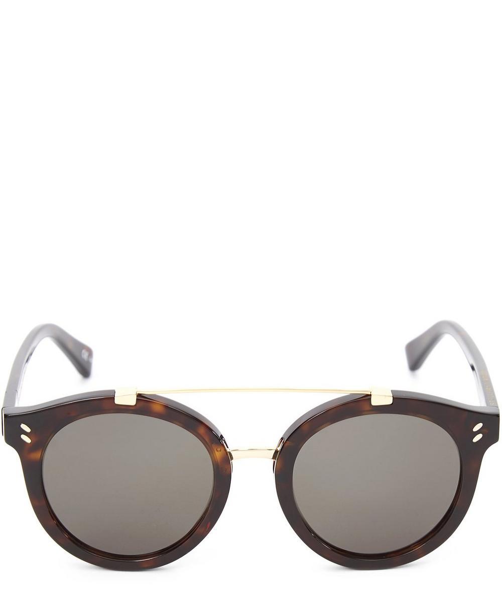 Chunky Round Aviator Sunglasses