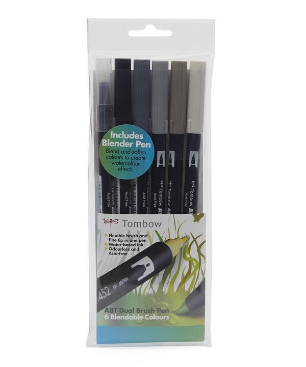 Dual-Nibbed Grey Brush and Tip Set