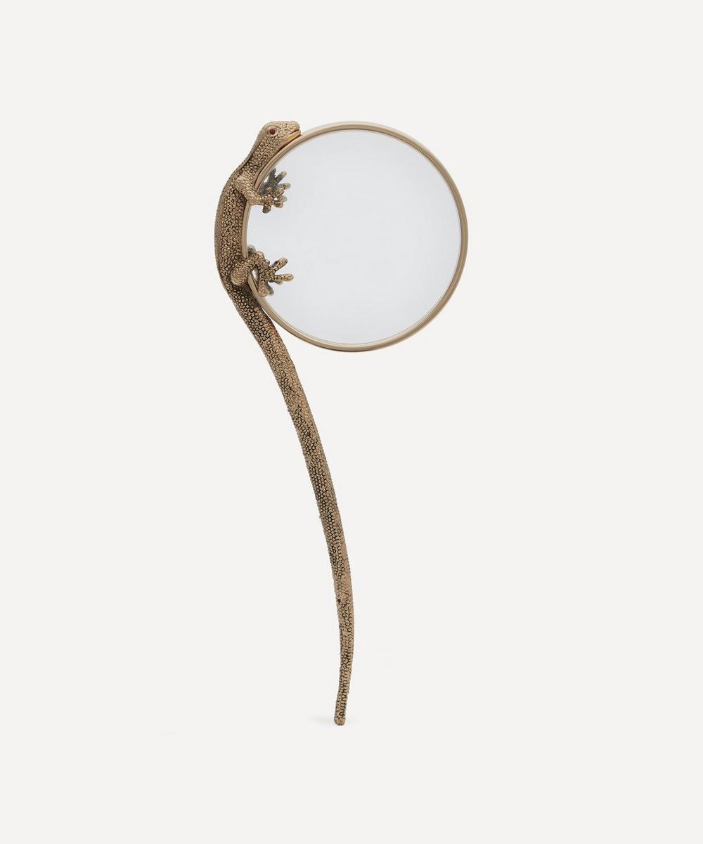 Gold-Plated Gecko Magnifying Glass
