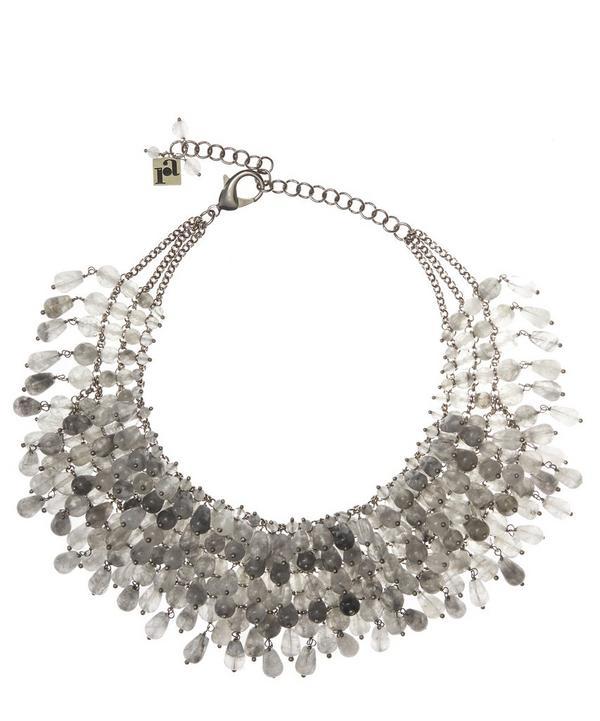 Rubina Fringed Quartz Necklace