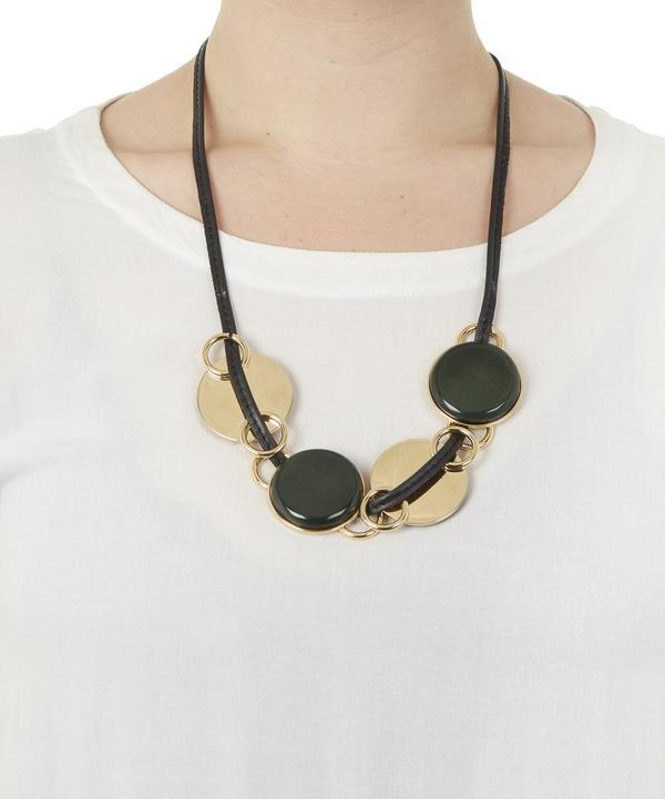 Horn Circle Reversible Necklace