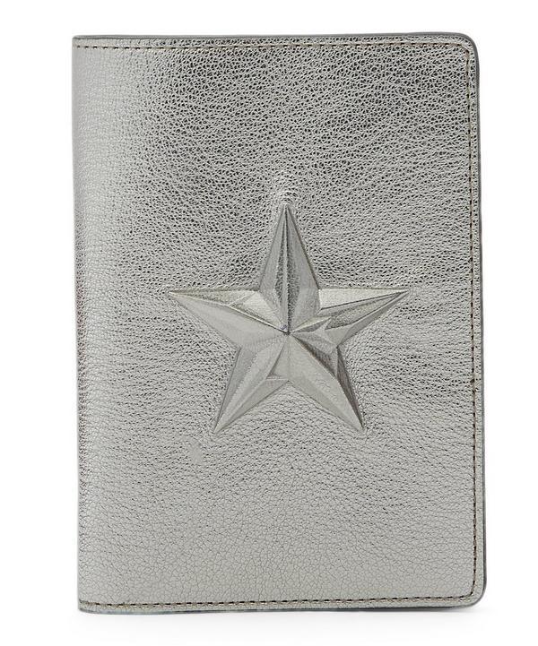 Star Metallic Leather Passport Cover