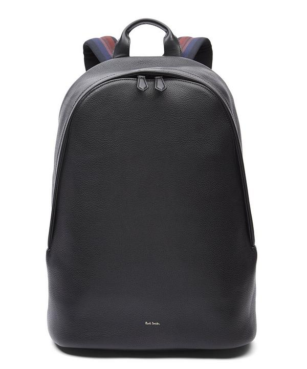 City Webbing Leather Backpack