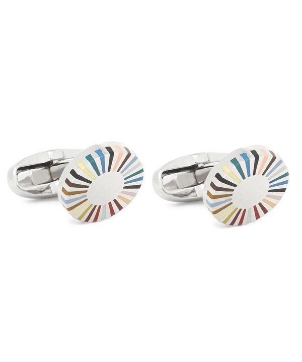 Gradient Stripe Edge Cufflinks