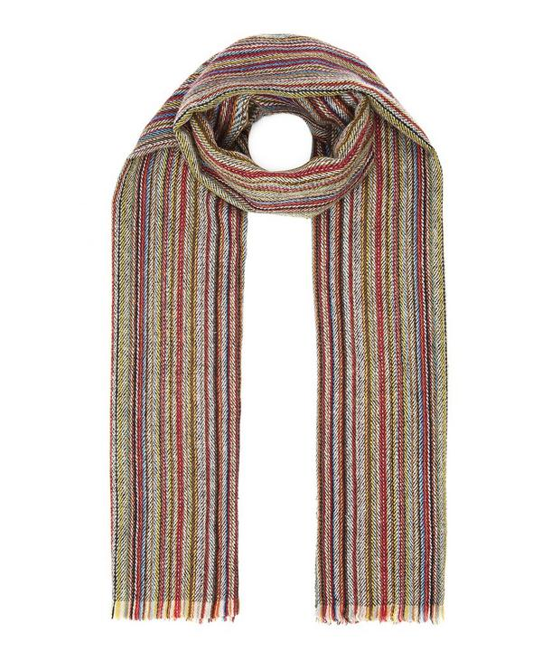 Herringbone Multi Stripe Scarf
