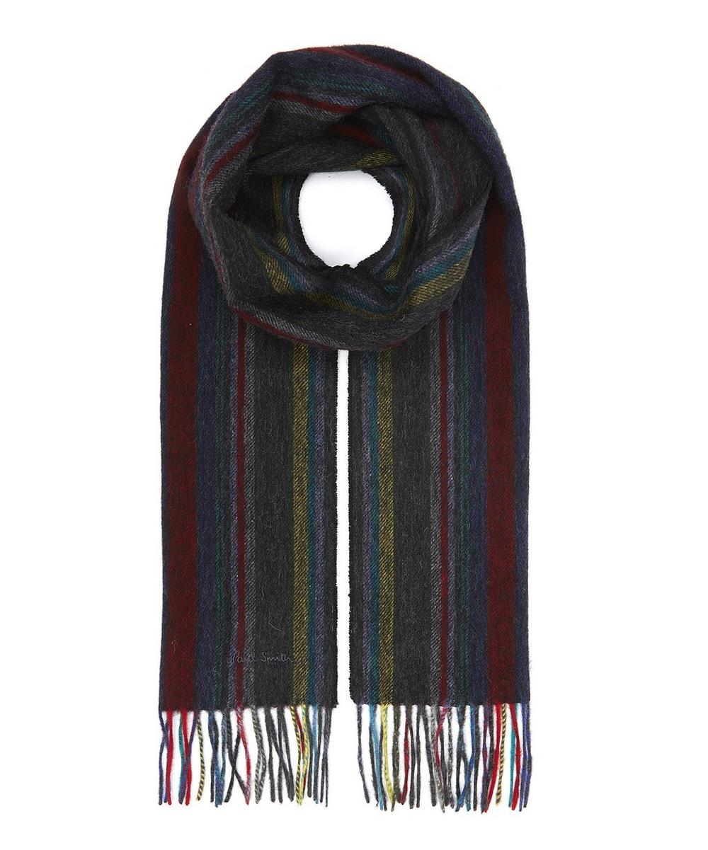 Multi-Stripe Lambswool Scarf