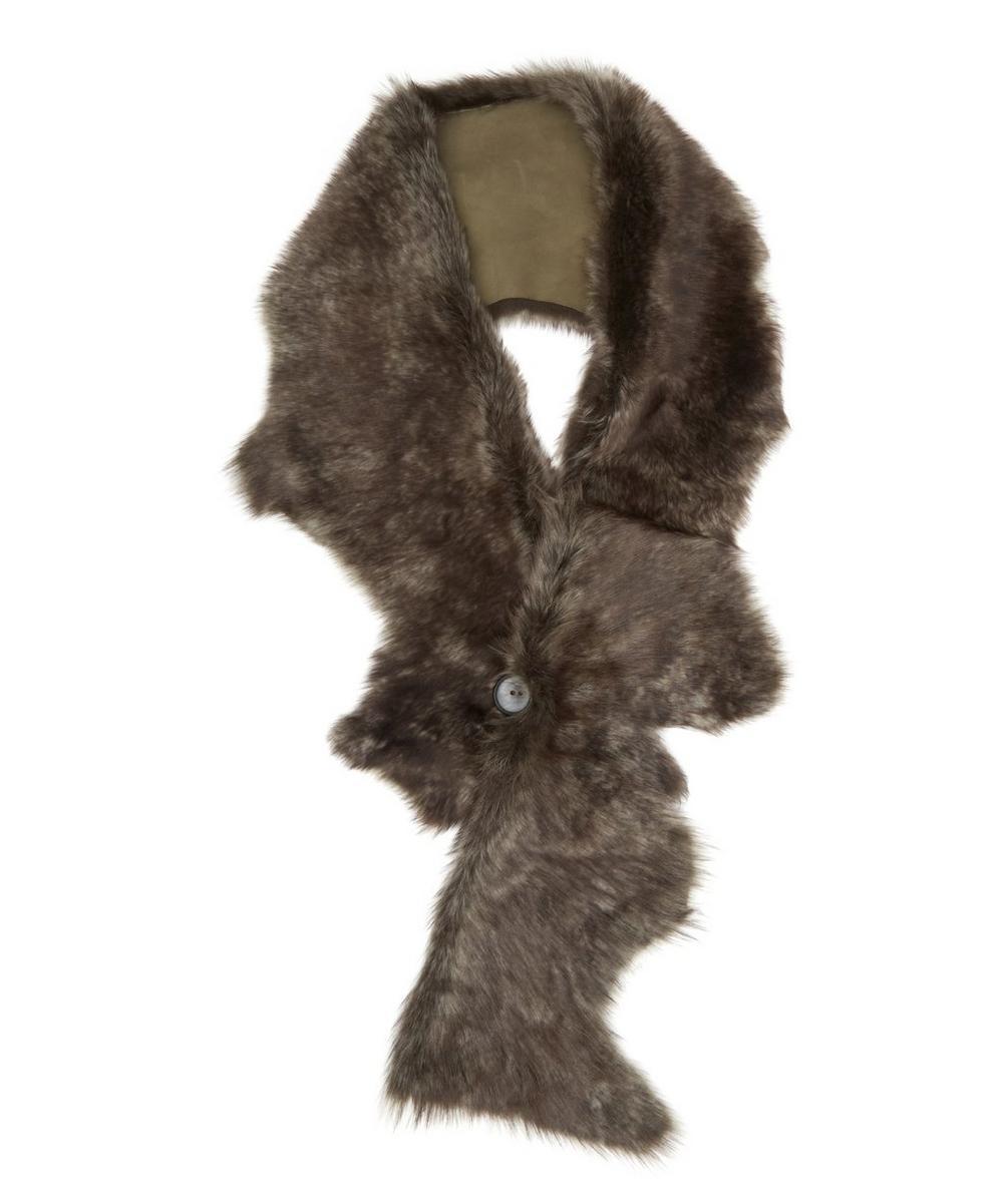 Foxy Toscana Lambskin Button Scarf