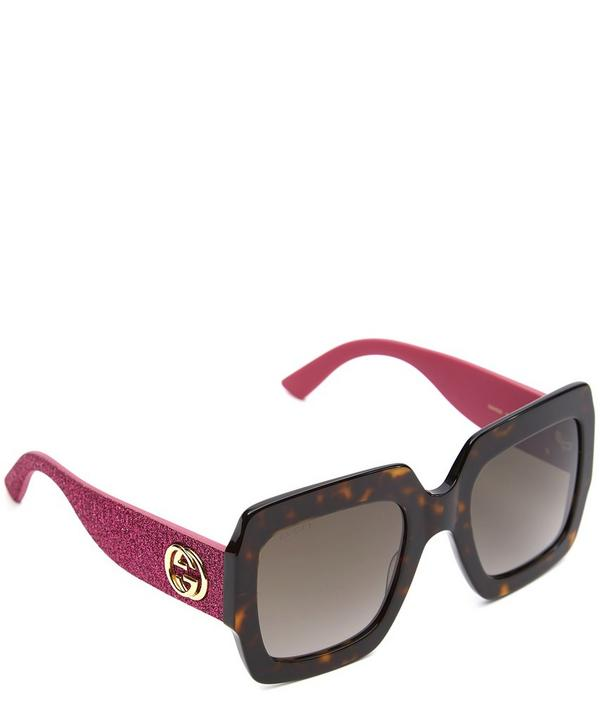 Oversized Square-Frame Sunglasses