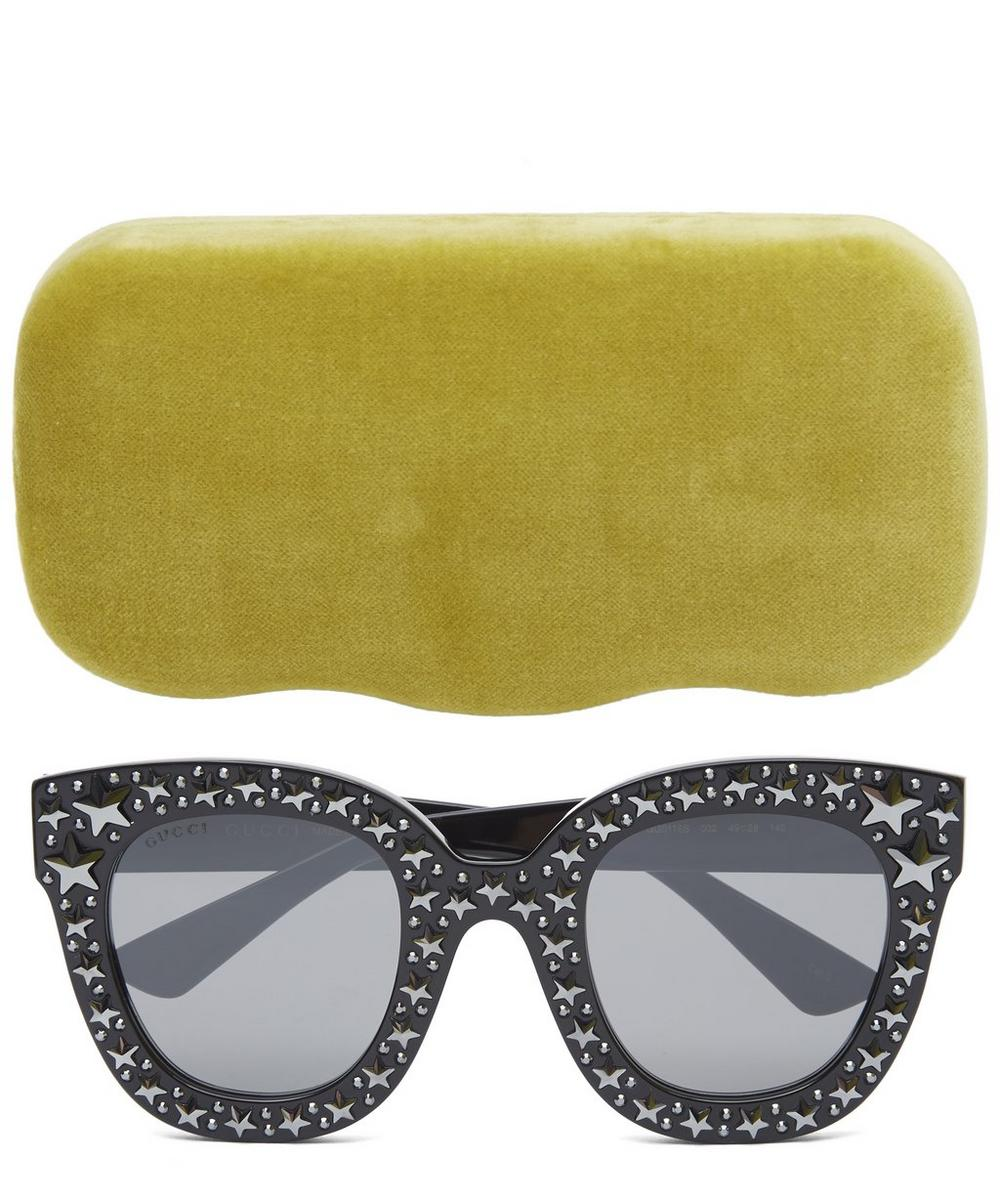 Cat Eye Sunglasses With Stars
