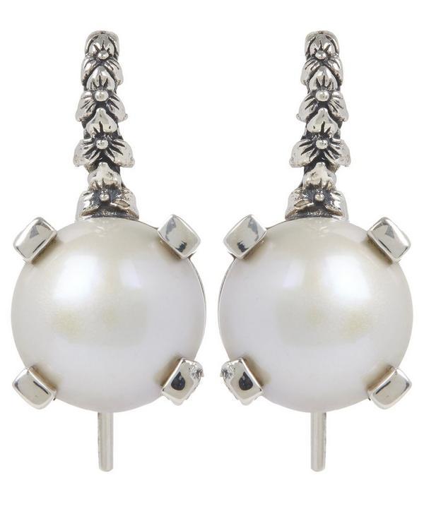 Silver Mabe Pearl Drop Earrings