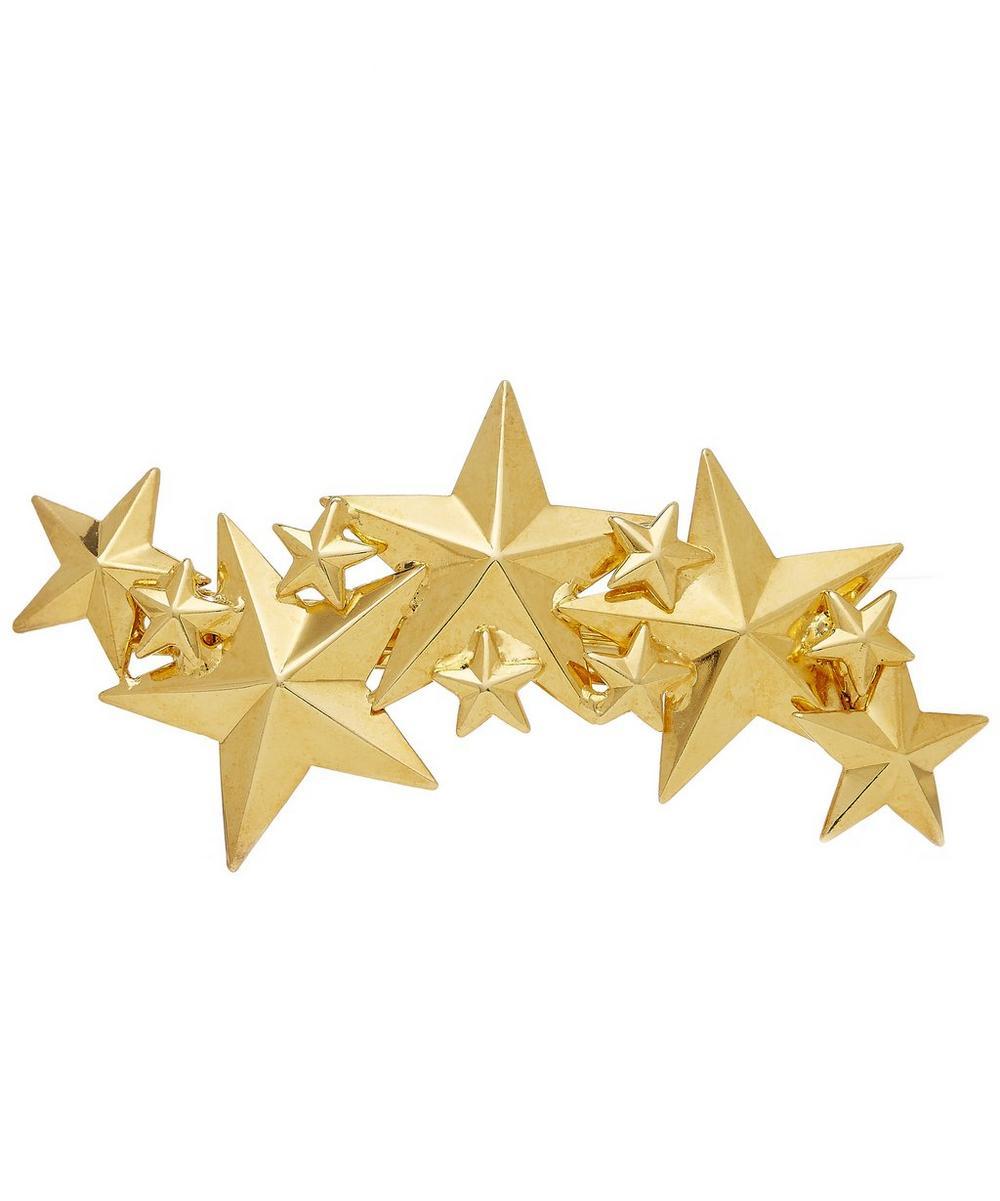 Petite Constellation Gold Clip Barrette