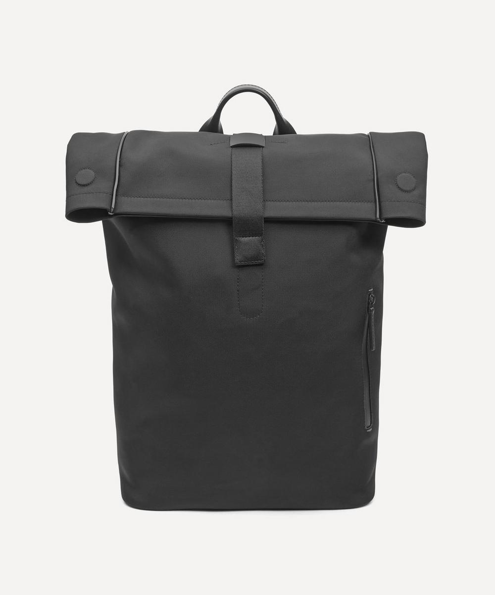 Fabric and Leather Rolltop Rucksack