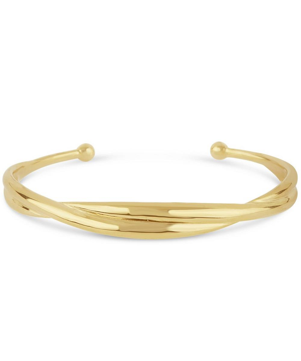 Gold-Plated Twist Cuff