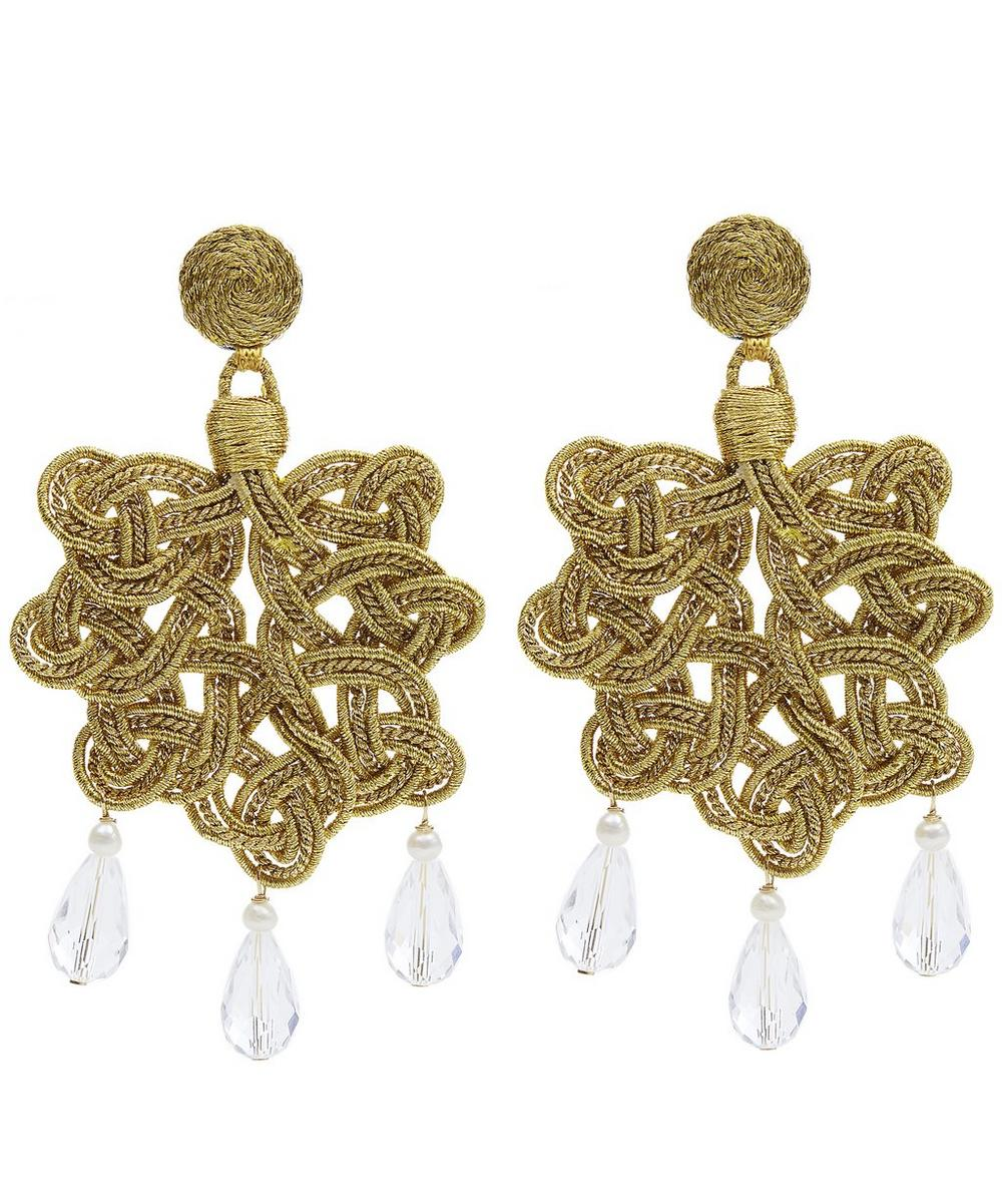 Passementarie Crystal Drop Earrings