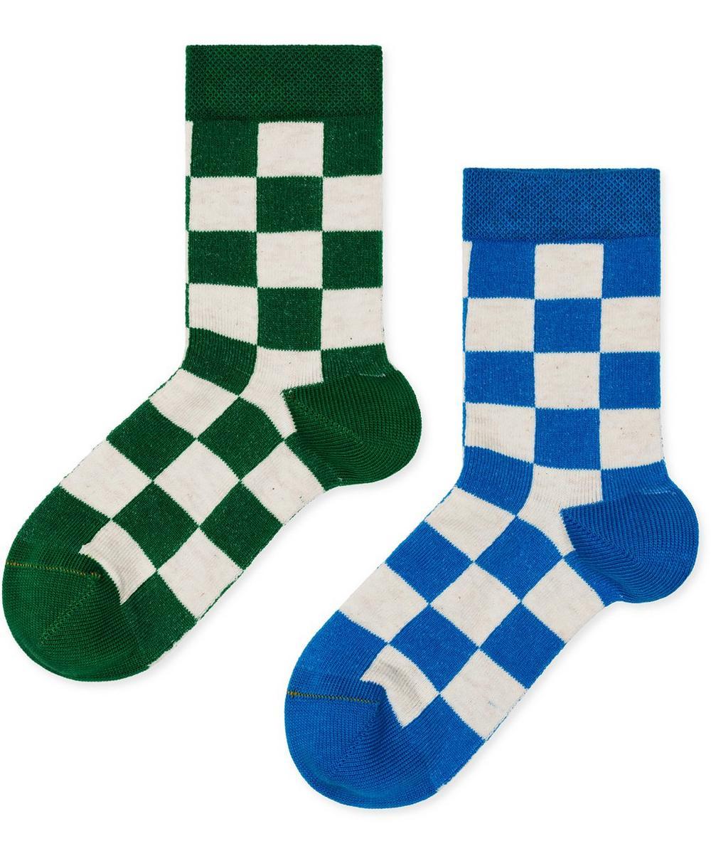 Queen Check Crew Socks 2-4 Years