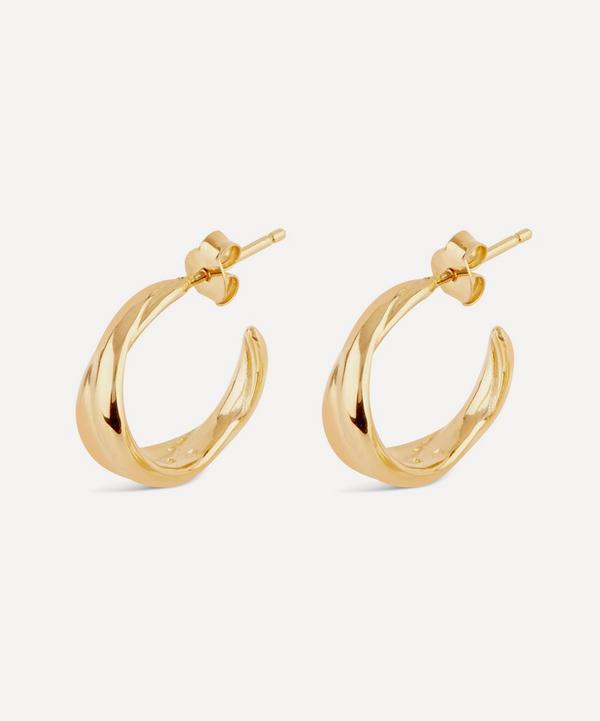 Gold-Plated Twist Mini Hoop Earrings