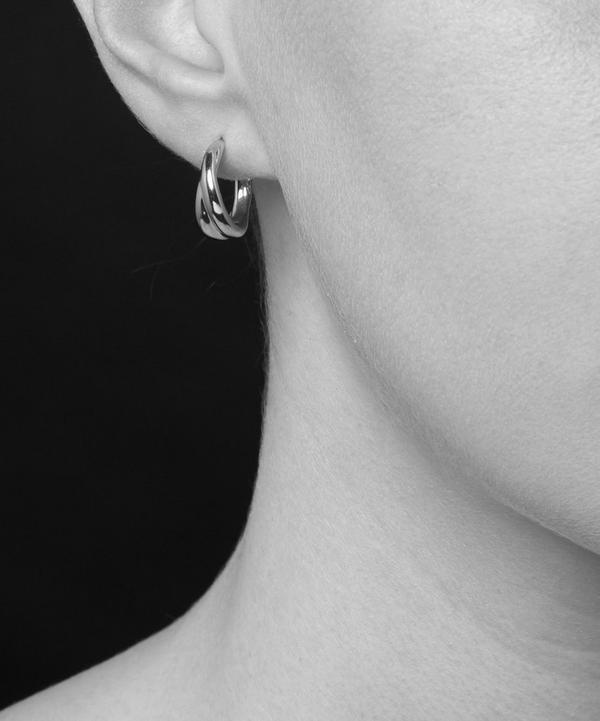 Silver Twist Mini Hoop Earrings