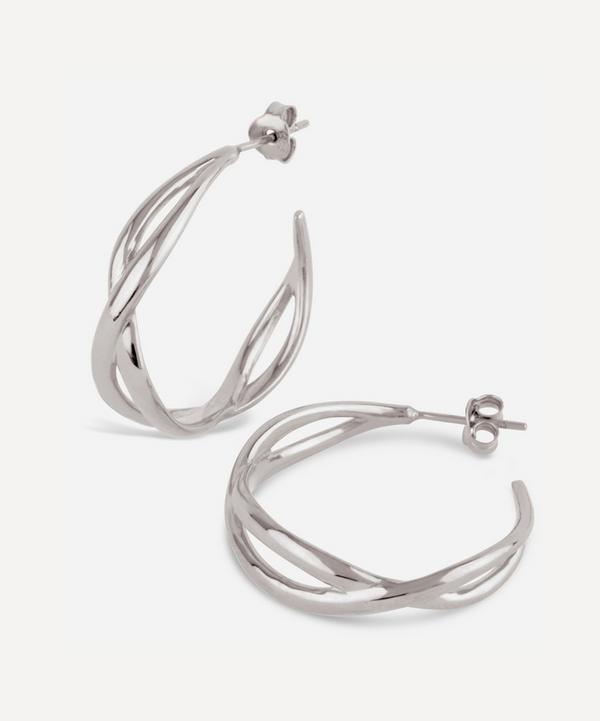 Silver Twist Small Open Hoop Earrings