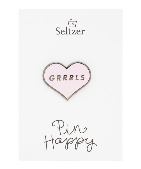 Grrrls Enamel Pin Badge
