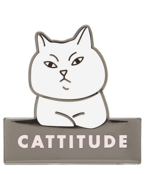 Cattitude Enamel Pin Badge
