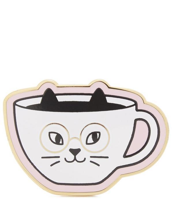 Cat Cafe Enamel Pin Badge