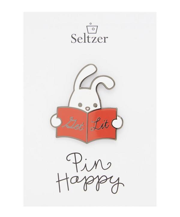 Reading Rabbit Enamel Pin Badge