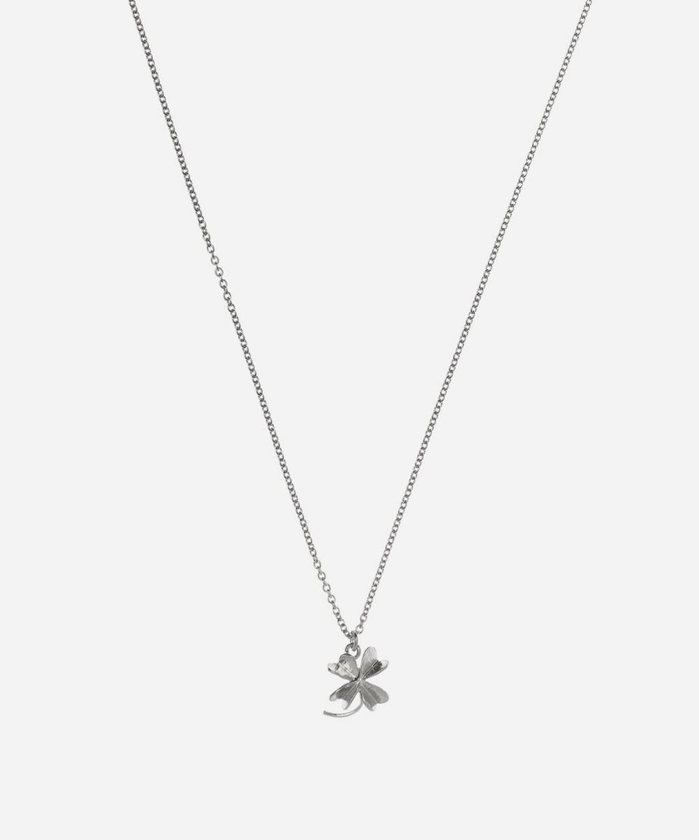 Silver Baby Lucky Clover Necklace