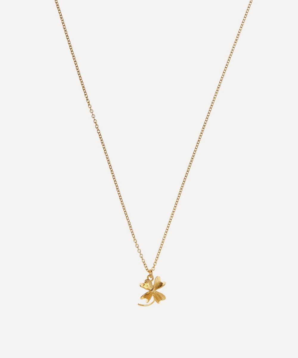 Gold-Plated Baby Lucky Clover Necklace