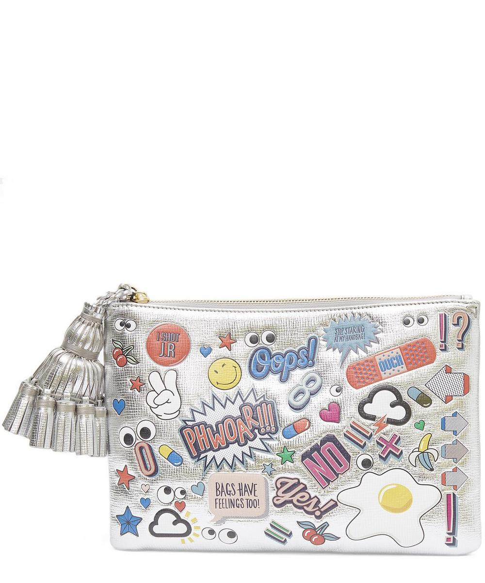 Wink Clutch With Stickers
