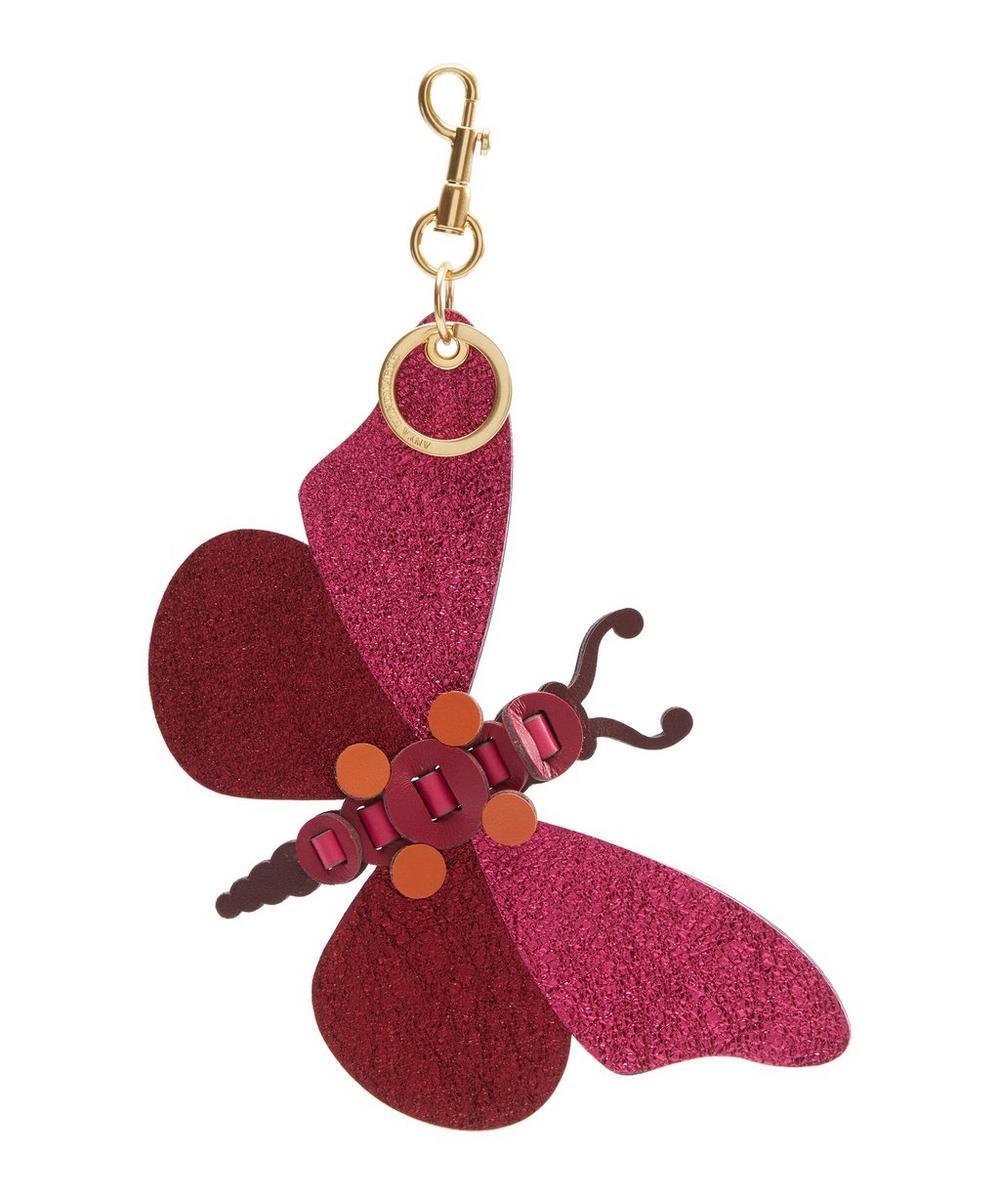 Metallic Butterfly Tassel Keyring