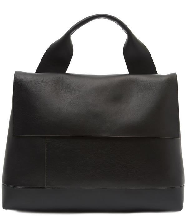 Soft Leather Work Tote Bag