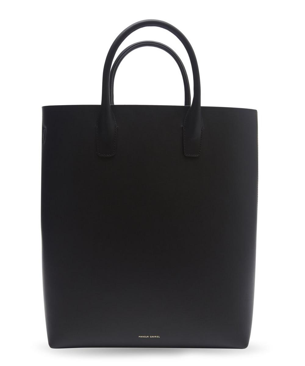 Vegetable-Tanned Leather North South Tote Bag