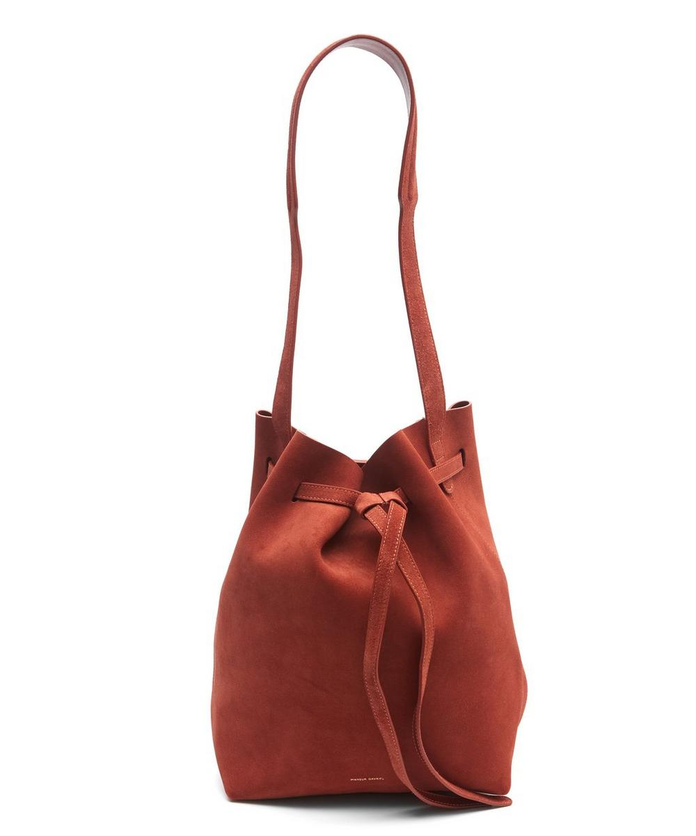 Suede Drawstring Hobo Bag