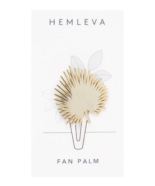 Fan Palm Enamel Pin Badge