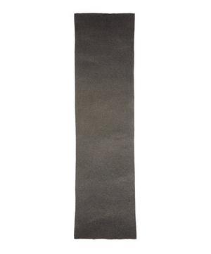 Fine Garter Stitch Striped Lambswool Scarf