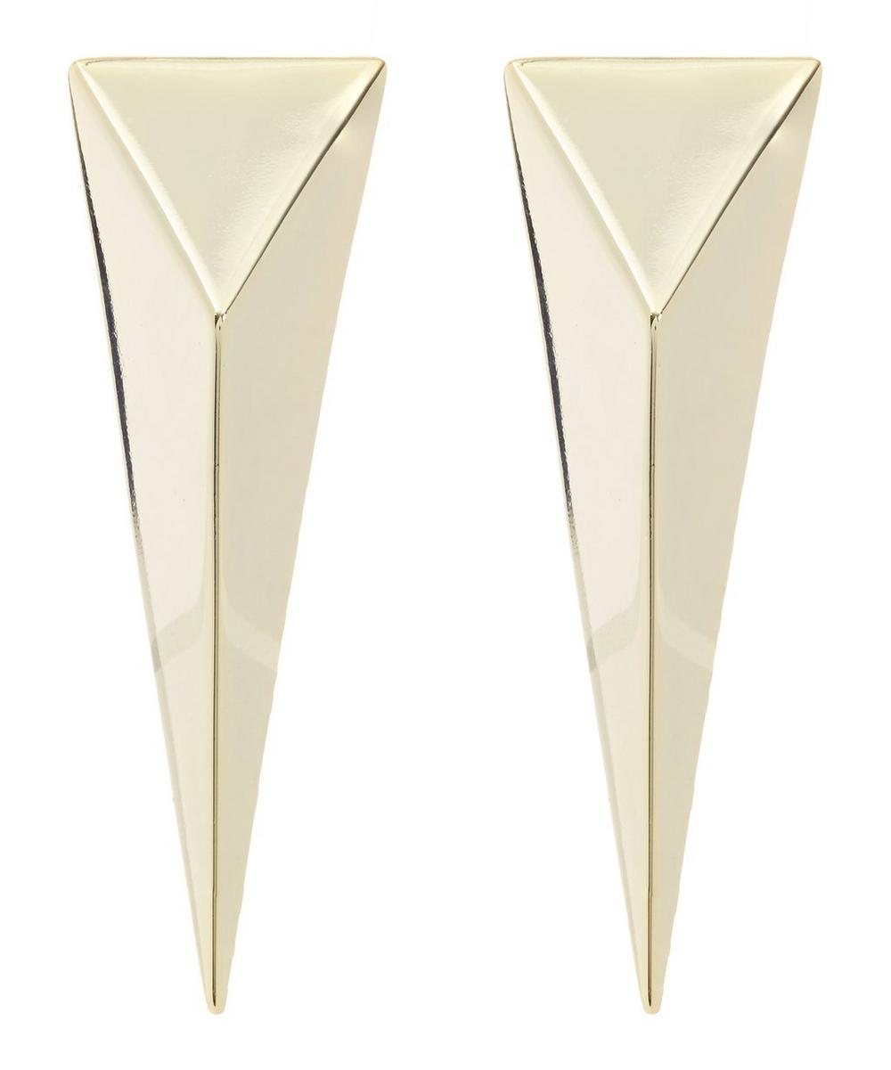 Gold-Plated Point Clip-On Earrings
