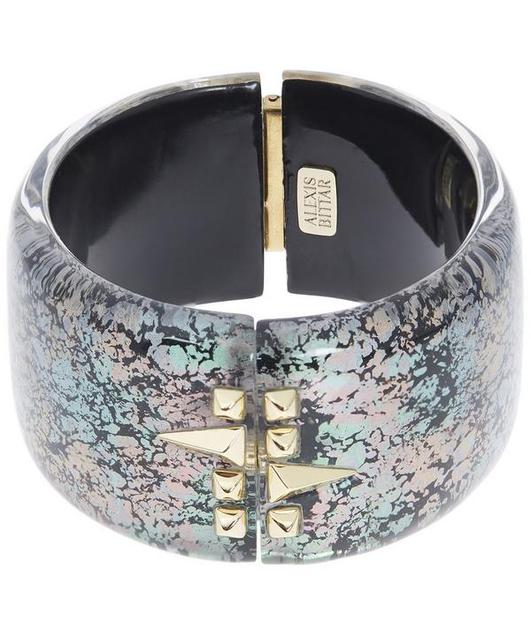 Abalone Patterned Lucite Cuff Bracelet