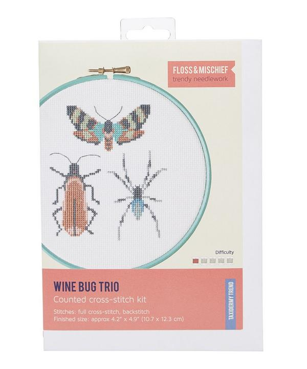 Wine Bug Trio Cross Stitch Kit