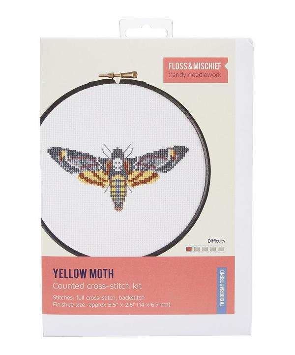 Yellow Moth Cross Stitch Kit
