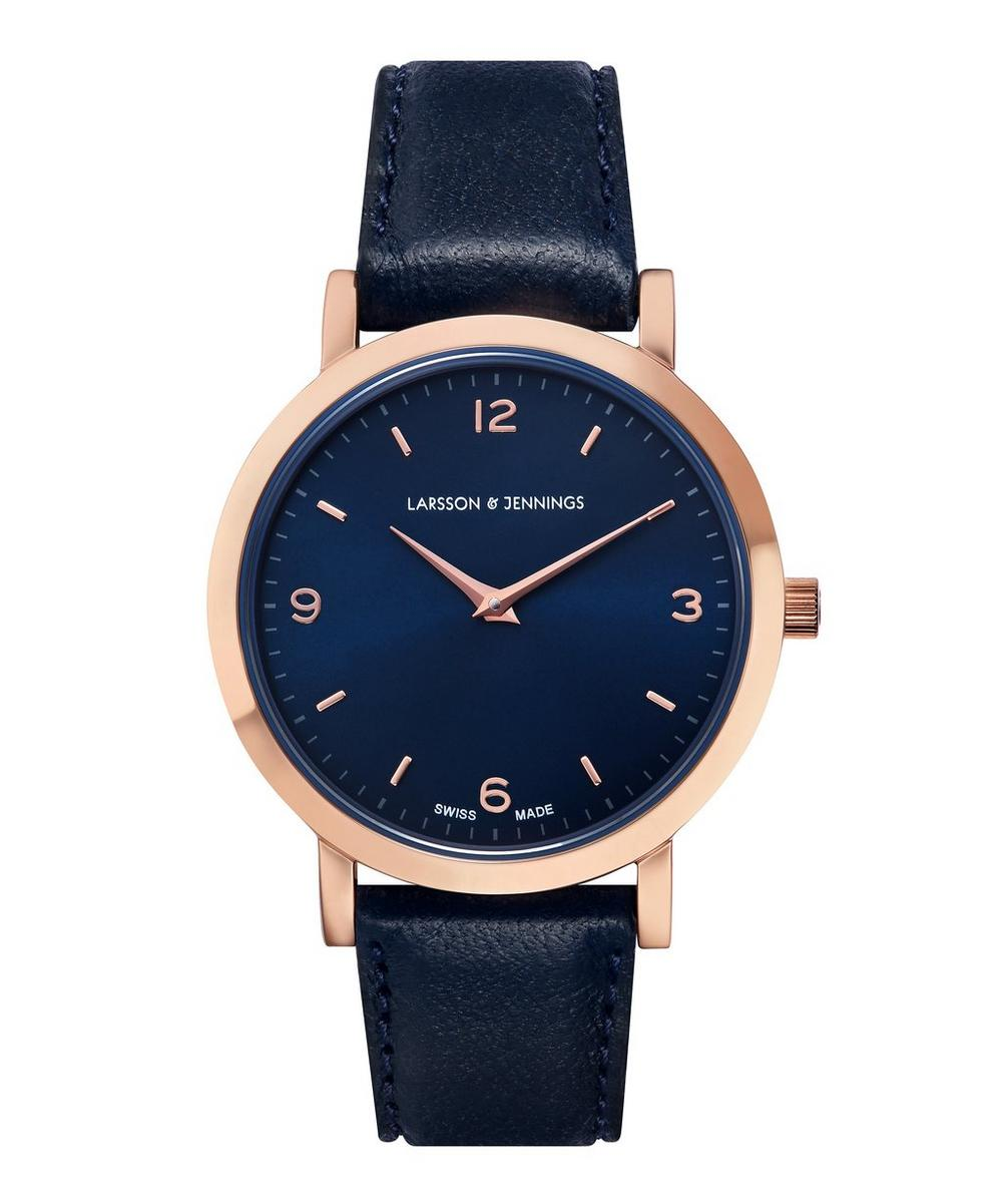 Lugano 33mm Rose Gold and Leather Watch