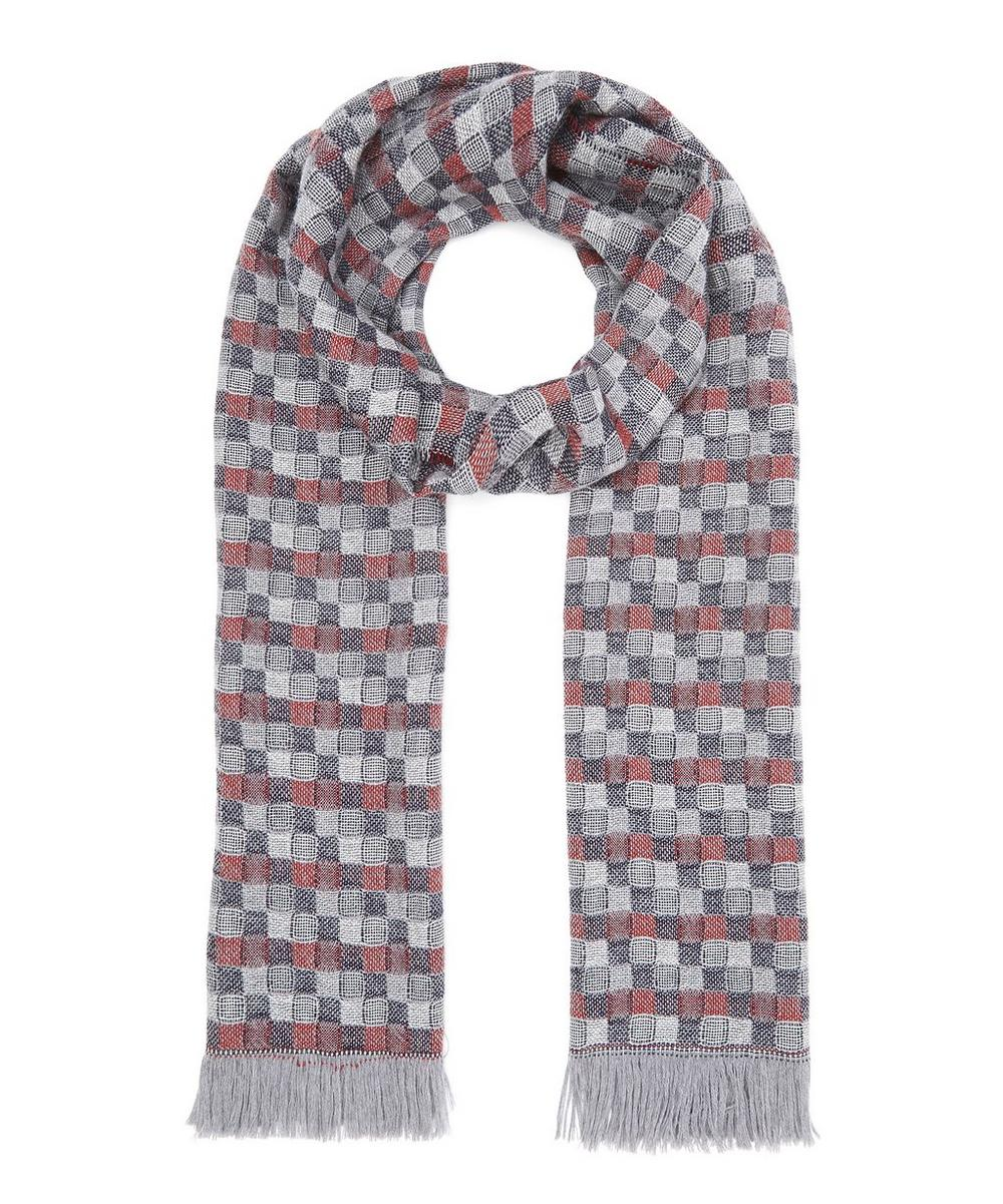 Optical All-Over Pattern Scarf