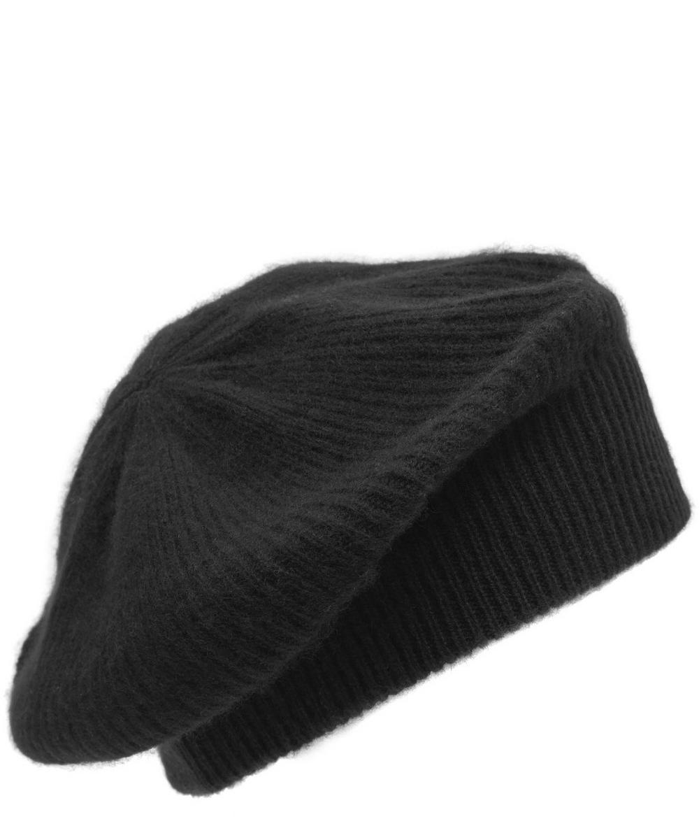 Milled Cashmere Beret Hat